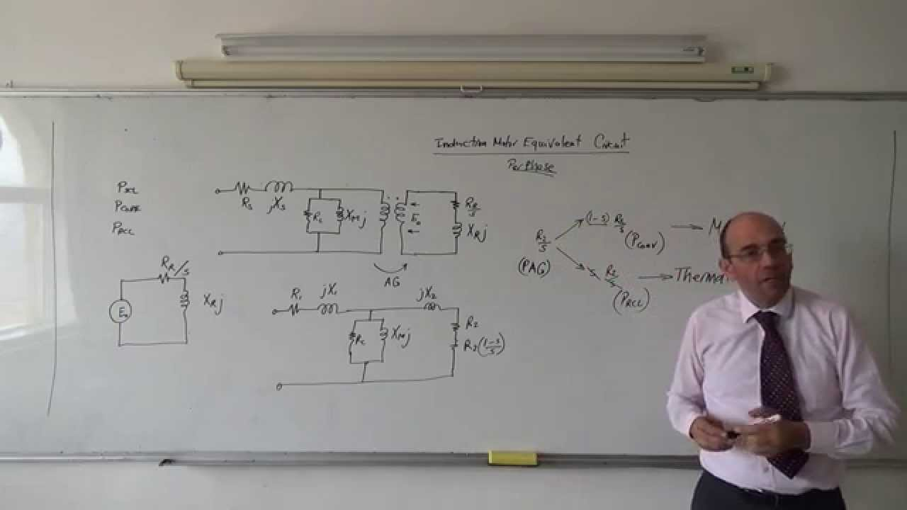 Equivalent Circuit Of The Three Phase Induction Motor Youtube