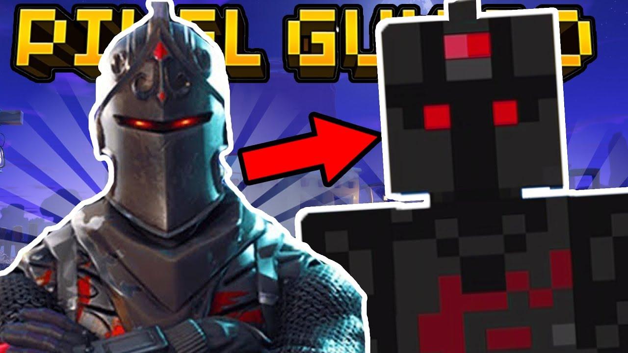 How To Make Fortnite Skins In Pixel Gun 3d Legendary Black Knight