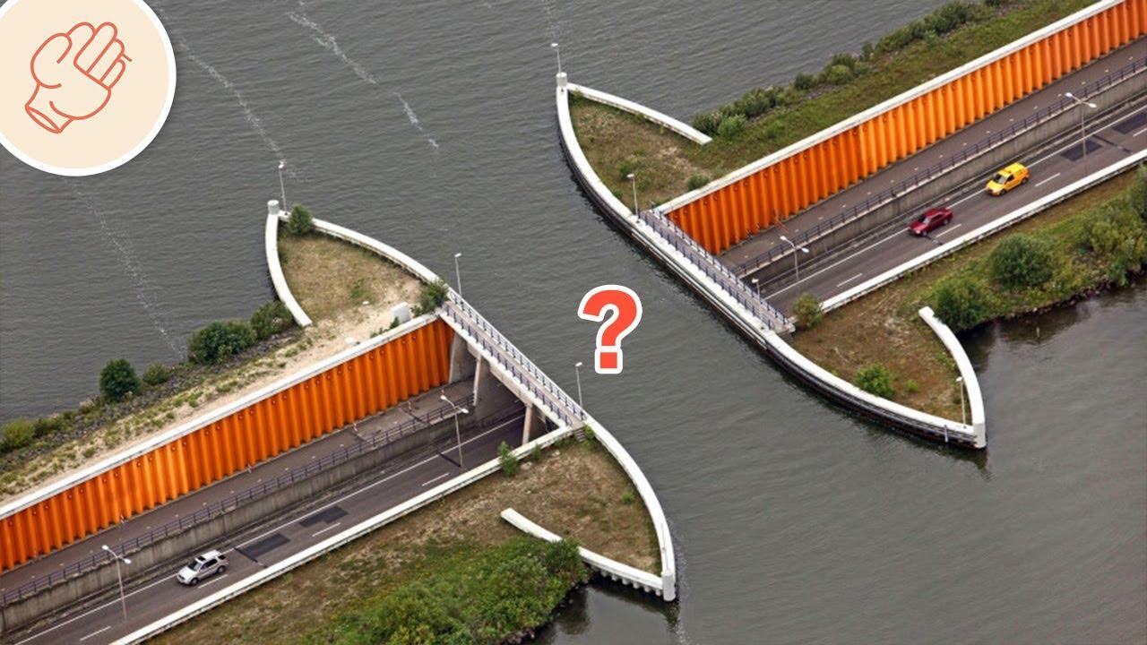 震撼人心的神奇大橋!車子在中間不見了?
