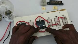 switch-box-Anschluss ein Indikator drei Schalter, zwei socket - in tamil