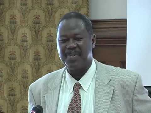Kandioura Dramé lectures on labbé Boilat, as part of African Film Weekend