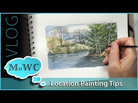 How To Get More Comfortable With Plein Air. An Afternoon At The Biltmore Estate Lagoon