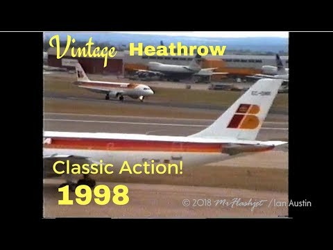 A Day at the Queens Building - Heathrow Airport - 1998)  Part 8 / Classic Aviation Action!