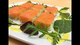 видео Салат из лосося с картофелем. Рецепт  с фото