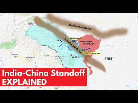 Explaining the India China Standoff / border fight in Ladakh through Map