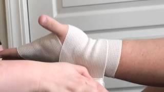 Applying a Figure 8 Elastic Bandage to an Injured Wrist