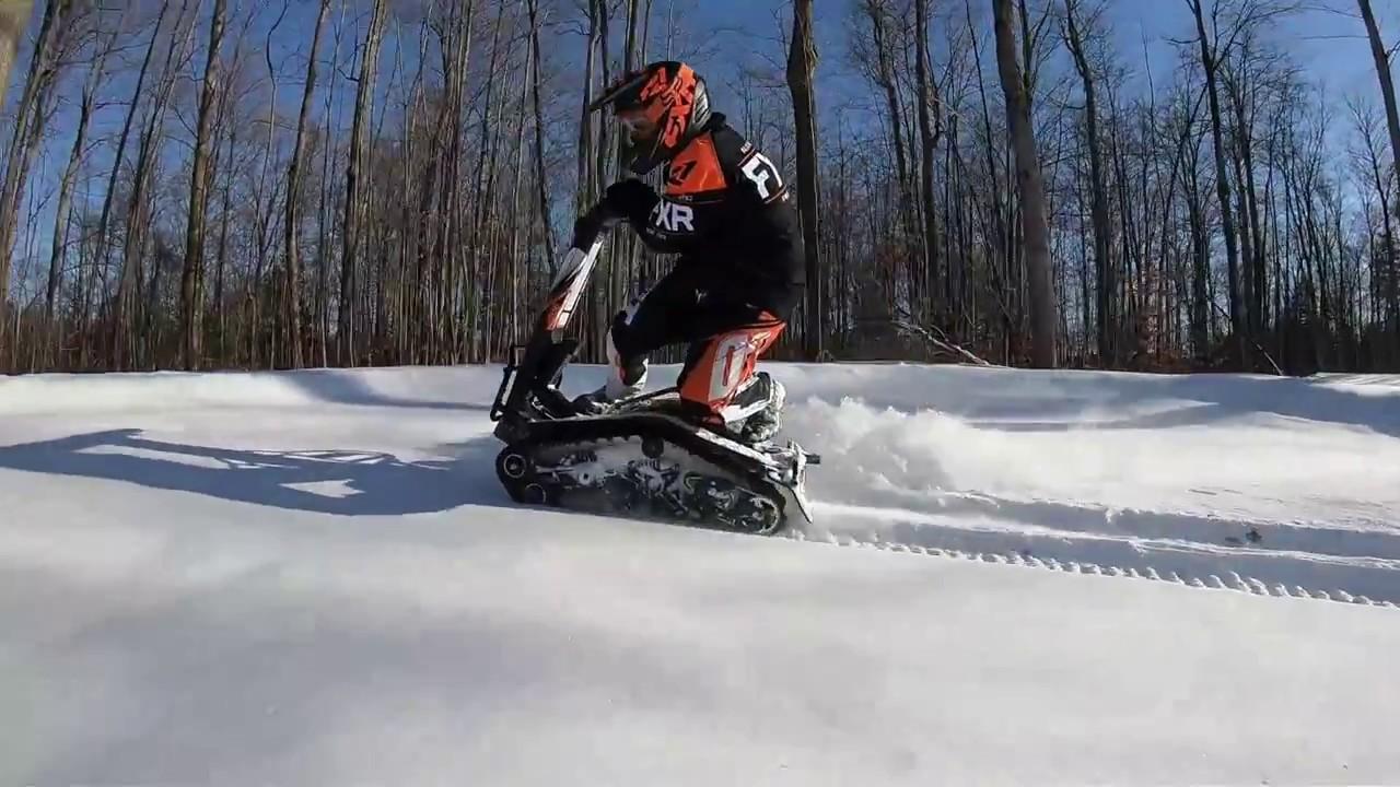 DTV Shredder Snow Wheelie - YouTube Shredding Snow