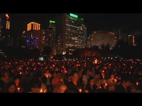 Tiananmen Square: Huge Hong Kong vigil marks massacre's anniversary