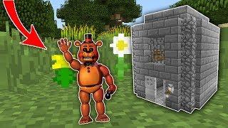 Мишка Фредди в 1 блок делает Побег из Тюрьмы Нуба в Майнкрафт Маленький Мир Преступник и Коп