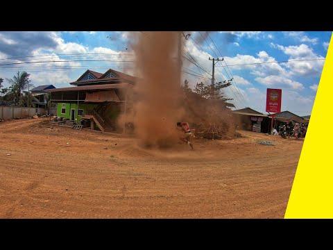 Dust Devil / Mini Tornado in Cambodia | GoPro Hero7
