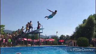 Summer time pool tricks🔥. Live to the max!!