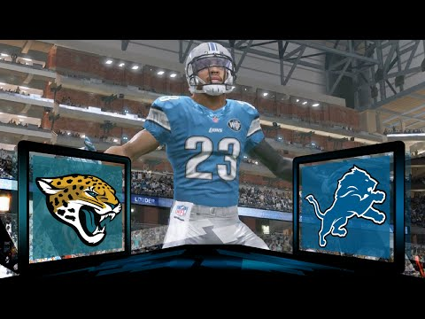 Madden NFL 17 Detroit Lions Franchise- Year 1 Game 10 vs Jacksonville Jaguars