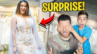 REVEALING Andrea's WEDDING DRESS! (BreathTaking) | The Royalty Family
