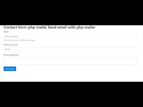 How to make a contact form using phpmailer|Send email with