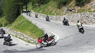 06.2017 Stilfser Joch Abfahrt Motorrad Alpenpass Yamaha MT09 Tracer
