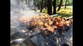 Шашлык в духовке, как приготовить шашлык из свинины в духовке, шашлык на гриле