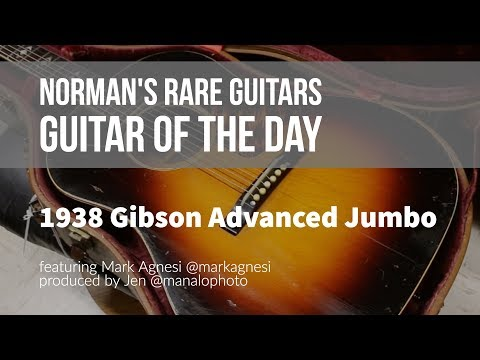 Norman's Rare Guitars - Guitar of the Day: 1938 Gibson Advanced Jumbo