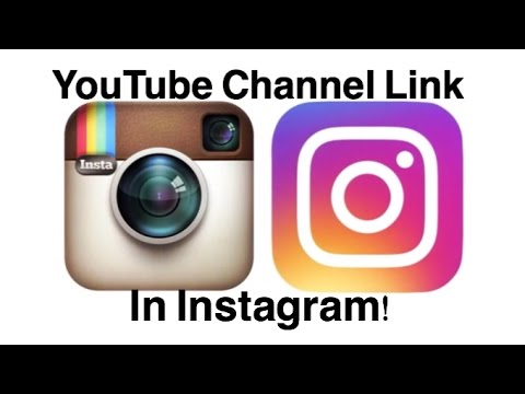 How to put your YouTube channel link in Instagram