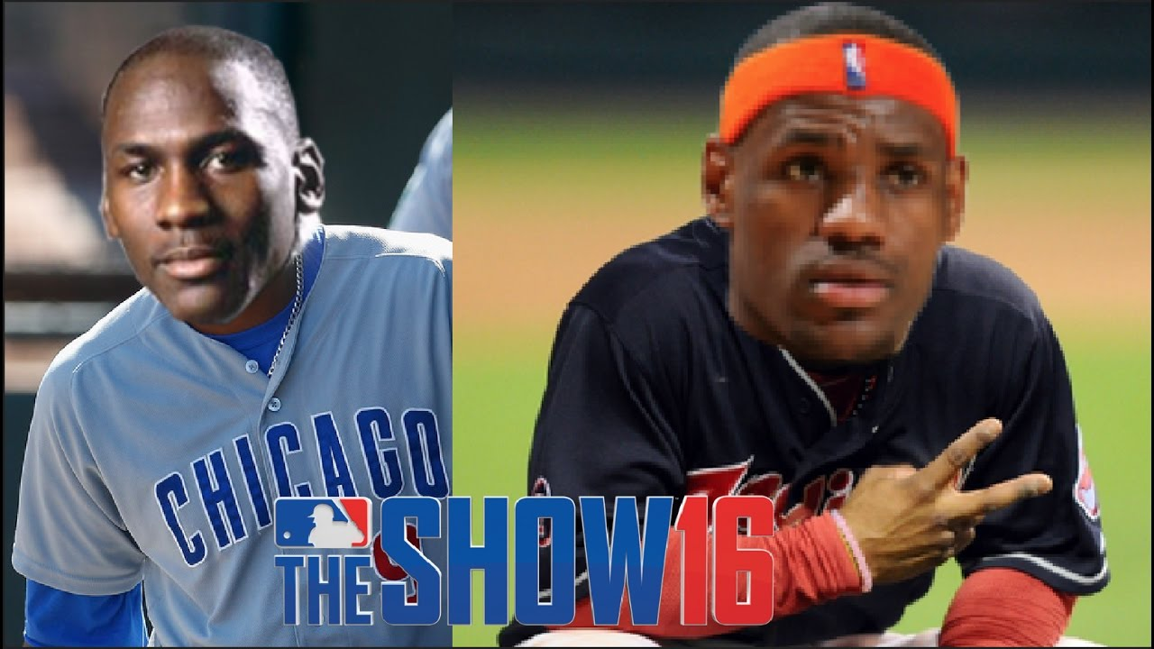 huge selection of 51669 a7f9c What If Michael Jordan Played For The Cubs And Lebron James Played For  Indians? MLB The Show 16