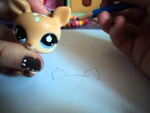 Tuto dessin lps comment dessiner une biche partie 1 - Coloriage lps ...