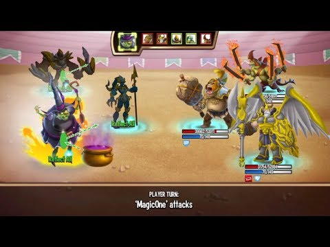 Monster Legends - Gretchen level 1 to 130 review combat arena - Good magic support