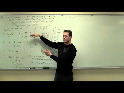 Statistics Lecture 8.3: Hypothesis Testing for Population Proportion