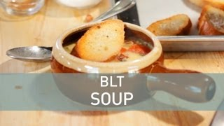 Blt Soup Recipe: Bacon And Tomato Soup With Braised Greens