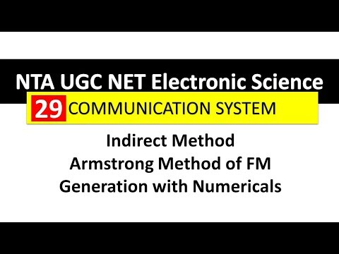 Communication System 29 Indirect Method Or Armstrong Method Of FM Generation With Numerical