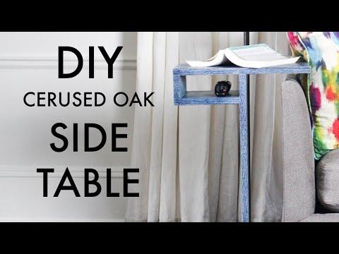 DIY Side Table With Storage Shelf