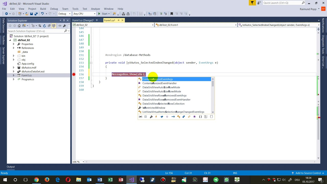Get Value or Text of Listbox SelectedItem with bound Data  Winforms, WPF  Bound DataTable