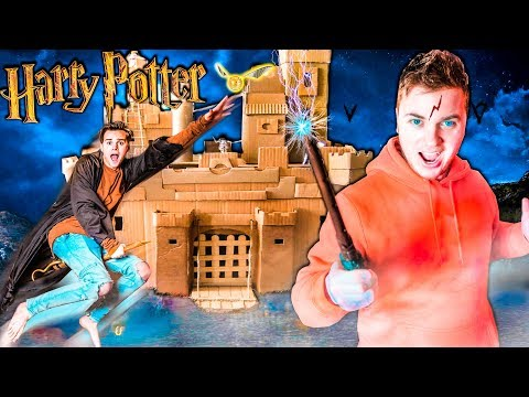 24 Hour BOX FORT Harry Potter Magic Potions Quidditch & 3:00AM SCARY Monster