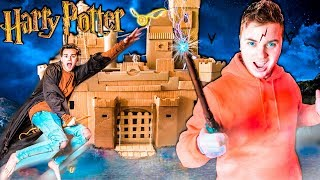 24 Hour BOX FORT Harry Potter!! Magic, Potions, Quidditch & 3:00AM SCARY Monster