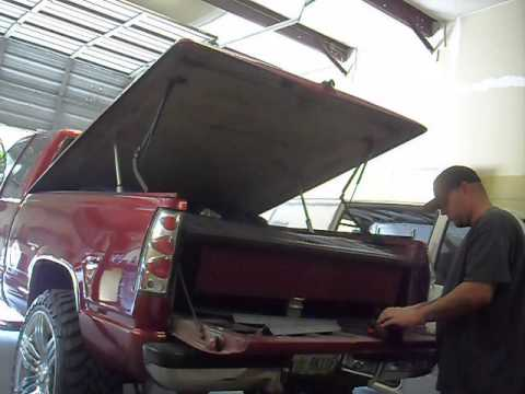 Tonneau Cover F150 >> Linear actuator bed cover - YouTube