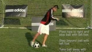 How to do soccer football futsal moves: Hip Swivel