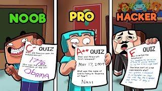 Minecraft - SCHOOL TEST! (NOOB vs PRO vs HACKER)