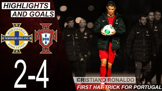 Northern Ireland vs Portugal 2 4 Highlights Goals Cristiano Ronaldo first hat trick Portugal