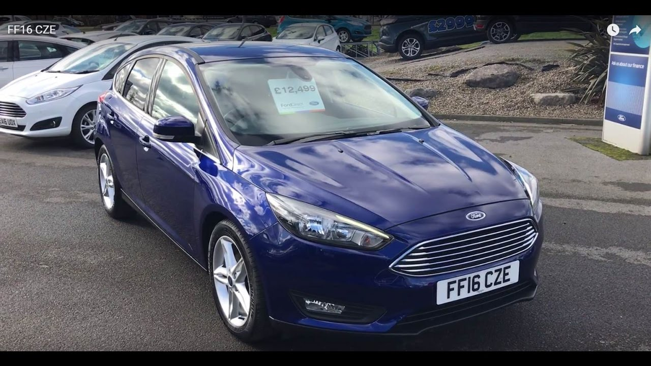 Used Ford Focus Zetec Deep Impact Blue 2016