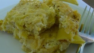 Old Fashioned Yellow Squash Casserole - Summertime Yellow Squash Side Dish Recipe