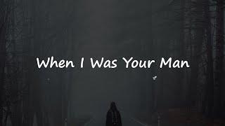 When i was your man - bruno mars (lirik dan terjemahan indonesia)