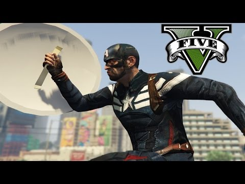 GTA V Mods - [Captain America FAP ฮา] - กัปตันถังขยะชักว่าว