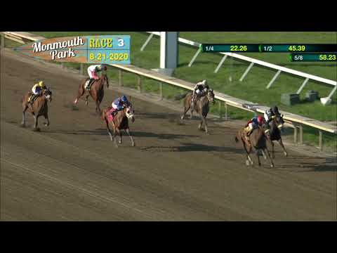 video thumbnail for MONMOUTH PARK 08-21-20 RACE 3