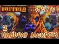 HIGH LIMIT Buffalo Link (2) HANDPAY JACKPOTS ~ $125 Bonus Round Slot Machine Casino