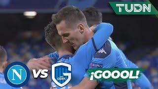 ¡Terrible error! El portero se equivoca | Napoli 1 - 0 Genk | Champions League - J6 - Grupo E | TUDN