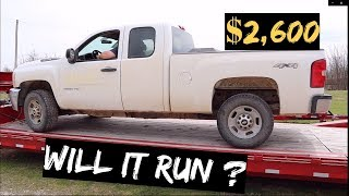 $2,600 2011 CHEVY Silverado 2500 4x4 Auction BUY! WILL IT RUN?