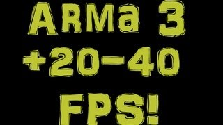 Arma 3 fps/graphic performance FIX  | Multiplayer FPS Drop fix | Better Frames