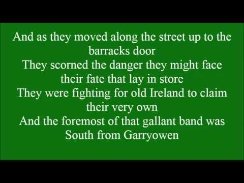 Sean South of Garryowen with lyrics