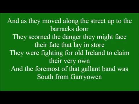Sean South of Garryowen with lyrics