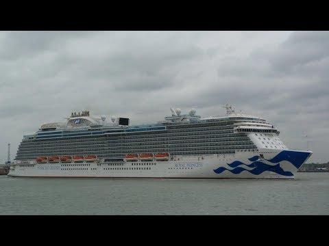 Princess Cruises 'Royal Princess' arrives Southampton from Fort Lauderdale Florida 30/04/18