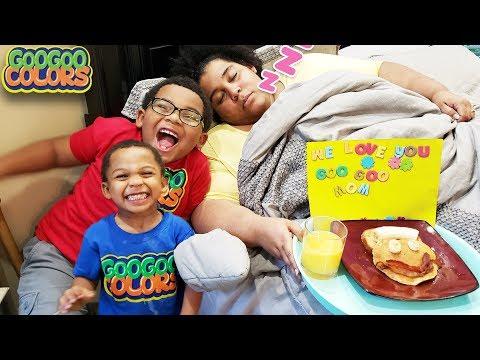 Happy Mothers Day! (Goo Goo Gaga Cooks Breakfast and Surprise Mom!)
