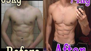 2014 筋トレ1年間での肉体の変化 ガリガリから細マッチョに before and after. My body Transformation in one year. thumbnail